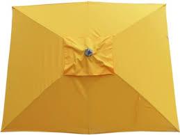 brilliant yellow patio umbrella rectangular market umbrella 9995
