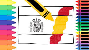 Spain Flags How To Draw Spain Flag Drawing The Spanish Flag Coloring Pages