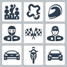 Images Of Racing Flags Vector Race Icons Podium Track Helmet Racer In Helmet Racing
