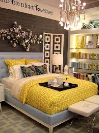 Yellow Room Decor How The Patterns On The Rug Bedspread And Room Divider All