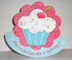 kids theme party u0027s cupcake birthday invitation with envelope rocker