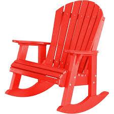 Red Rocking Chairs Wildridge High Fanback Heritage Adirondack Rocking Chair Rocking