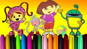 dora team umizoomi coloring book watch kids videos dora