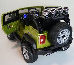 jeep car green ride on car jeep wrangler style remote control 12volts battery