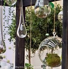distinctive outdoor décor garden hanging orbs decorating