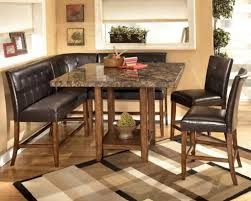 Benches For Kitchen Table Leather Tufted L Shaped Storage Bench With Marble Topped Corner