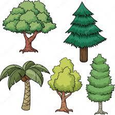 vector trees u2014 stock vector memoangeles 13711512