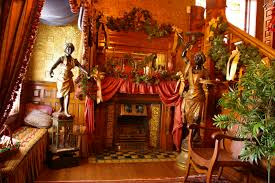 home decorations outlet christmas at the molly brown house museum between lions entryway