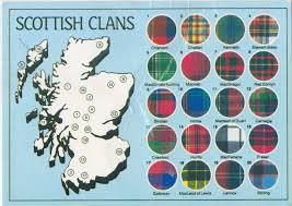 Stirling Scotland Map A Postcard Map Of Scottish Tartans Big Think