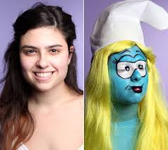 Smurf Halloween Costume Smurfette Halloween Makeup Huffpost