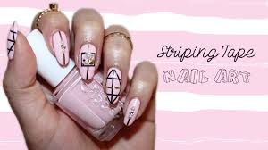 striping tape geometric nail art design