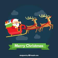 imagenes de santa claus feliz navidad fondo de feliz navidad con santa claus en un trineo descargar