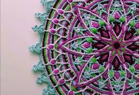 lylah overlay crochet mandala pattern crocheted home decor