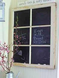 Upcycling Old Windows - upcycled repurposed old window frame chalkboard by grinsngiggles12
