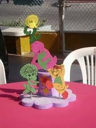 Diy Barney Decorations Barney Centerpieces Google Search Sitara Barney Party
