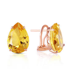 citrine earrings 14k gold earring with citrines