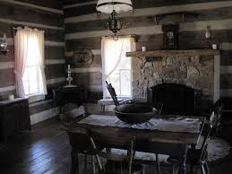 old log cabin interior description green frog village bells tn
