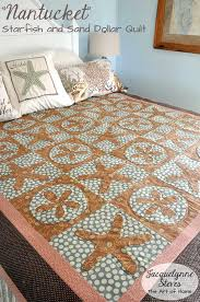 Starfish Comforter Set Seashell Quilts Queen Beach Inspired Comforter Sets Beach Life