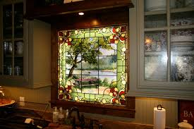 stained glass windows for kitchen cabinets stained glass window for a kitchen traditional kitchen