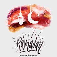watercolor ramadan card with ornaments free vectors ui