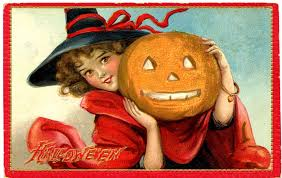 Halloween Vintage Pictures Vintage Halloween Graphic Sweet Witch Pumpkin The