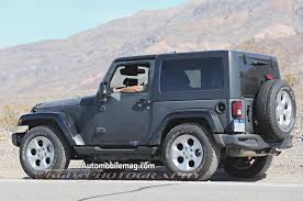 light blue jeep wrangler 2 door 2018 jeep wrangler prototype spied with body suspension modifications