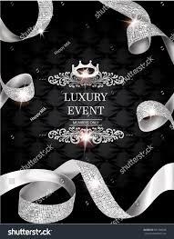 Invitation Cards Design With Ribbons Elegant Vintage Invitation Card Silk Textured Stock Vector