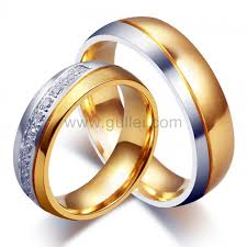 wedding rings his and hers matching sets engraved his and hers titanium wedding rings set for 2