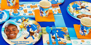 sonic party supplies sonic boom personalized party supplies kids party supplies