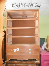 piece of candy furniture dresser converted into kids armoire