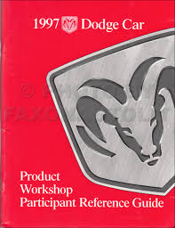 1997 chrysler sebring coupe dodge avenger repair shop manual