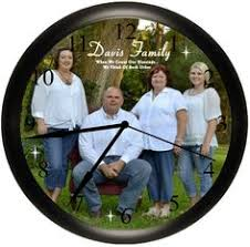 personalized picture clocks let s play collection baseball bat and glove personalized