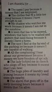 i am thankful for perspective write to live