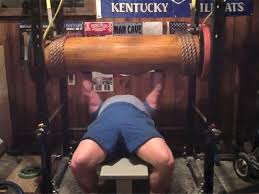 Bench Press World Record By Weight Heaviest Wooden Log Bench Press World Record Clint Poore