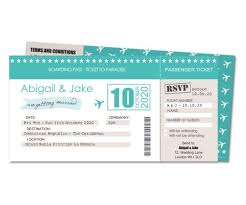 wedding invitation boarding pass ticket planet cards co uk