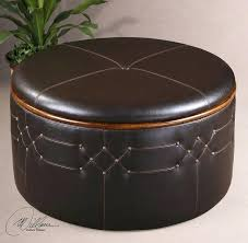 Leather Cube Ottoman Best Selling Four Sectioned Espresso Leather Cube Storage Ottoman