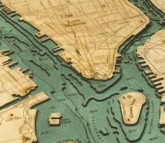 Map Of New York Manhattan And Long Island by Custom Wood Charts Of Manhattan And Long Island From Carved Lake