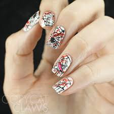 copycat claws along came a spider nail art