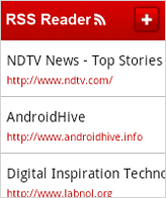 rss reader android android rss reader application using sqlite