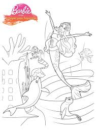 barbie mermaid coloring pages getcoloringpages com