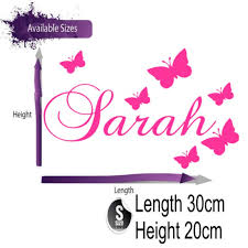 personalised name butterfly wall sticker quote designers