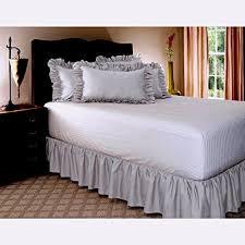 light grey bed skirt amazon com rajlinen ruffle gathering bed skirt genuine poly cotton