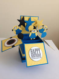 handmade happy birthday card in a box pop up kids