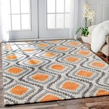 Modern Orange Rug Awesome Orange Area Rugs The Home Depot For Rug 8x10 Modern