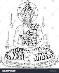 thai tattoothai hermit vector thai ancient stock vector 657248689