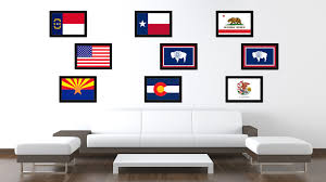Home Wall Art Decor Wyoming State Flag Home Decor Office Wall Art Livingroom Interior