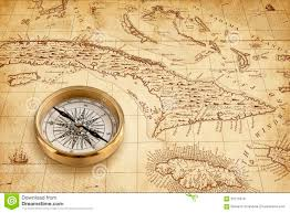 Map Of The United States With Compass by Old Pirate Map With Brass Compass Stock Photo Image 56775316