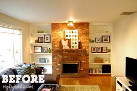 Diy Fireplace Cover Up My Husband Loves Our Ugly Brick Fireplace Laurel Home