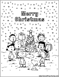 charlie brown christmas coloring pages at to print eson me