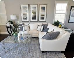 THAT SECTIONAL Grey Living Room Dark Carpet Light Grey Walls - Light colored living rooms